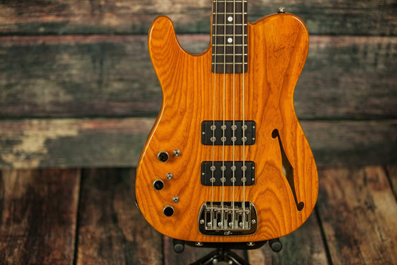 G&L Guitars Electric Bass includes a hard shell case G&L Left Handed Asat Bass Semi-Hollow Electric Bass