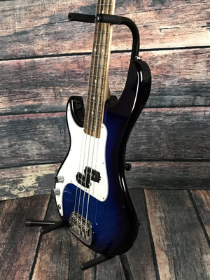 G&L Guitars Electric Bass includes a hard shell case G&L Left Handed SB1 4 String Electric Bass- Blueburst