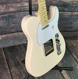 G&L Guitars Electric Guitar G&L Asat Classic Tribute Guitar with Gig Bag- White