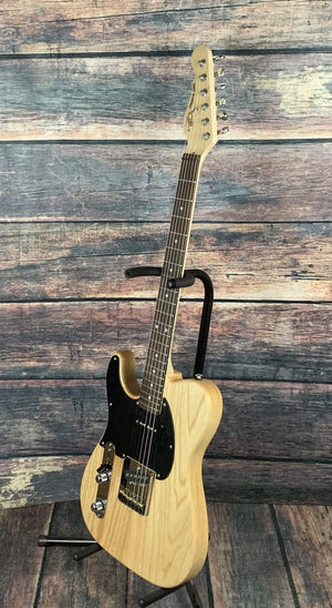 G&L Guitars Electric Guitar G&L Left Handed ASAT Classic Bluesboy 90 Electric Guitar- Natural Satin Frost