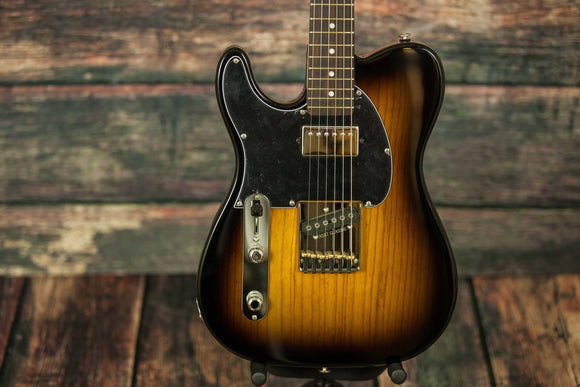 G&L Guitars Electric Guitar G&L Left Handed ASAT Classic Bluesboy Electric Guitar - Tobacco Burst Finish