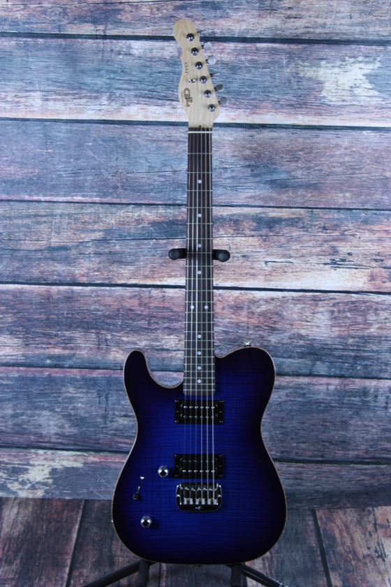 G&L Guitars Electric Guitar G&L Left Handed ASAT Deluxe Electric guitar - Blueburst
