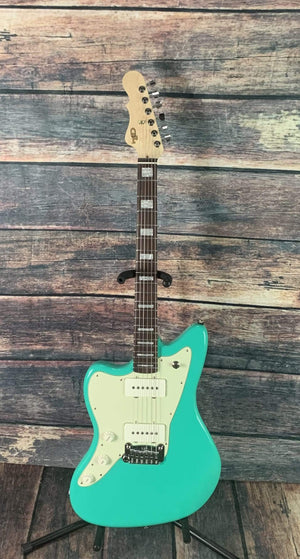 G&L Guitars Electric Guitar G&L Left Handed USA Doheny Off Set Electric Guitar- Belair Green