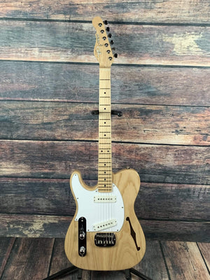 G&L Guitars Electric Guitar G&L Left Handed USA made Asat Special Semi-hollow Electric Guitar- Natural
