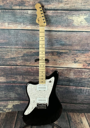 G&L Guitars Electric Guitar Guitar and Case G&L Left Handed Doheny Off Set Electric Guitar- Jet Black