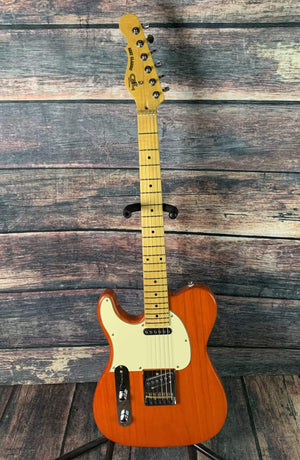 G&L Guitars Electric Guitar Used G&L Left Handed ASAT Classic Electric Guitar with Gig Bag- Clear Orange