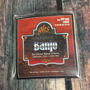 GHS Strings GHS 6 6 String Light Banjo Set Loop End