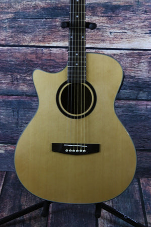 Giannini Acoustic Electric Guitar Giannini Left Handed GADC-S-MH-EQ-N Acoustic Electric Guitar