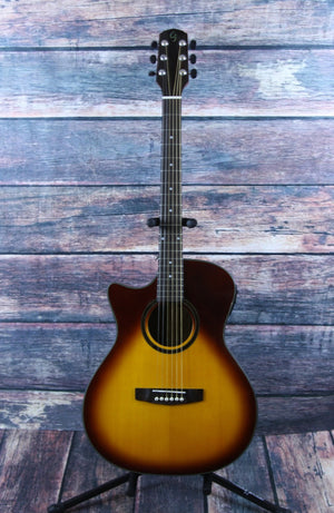 Giannini Acoustic Electric Guitar Giannini Left Handed GADC-S-MH-EQ-SB Acoustic Electric Guitar