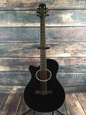 Giannini Acoustic Electric Guitar Giannini Left Handed GF-3R CEQ Mini Jumbo Acoustic Electric