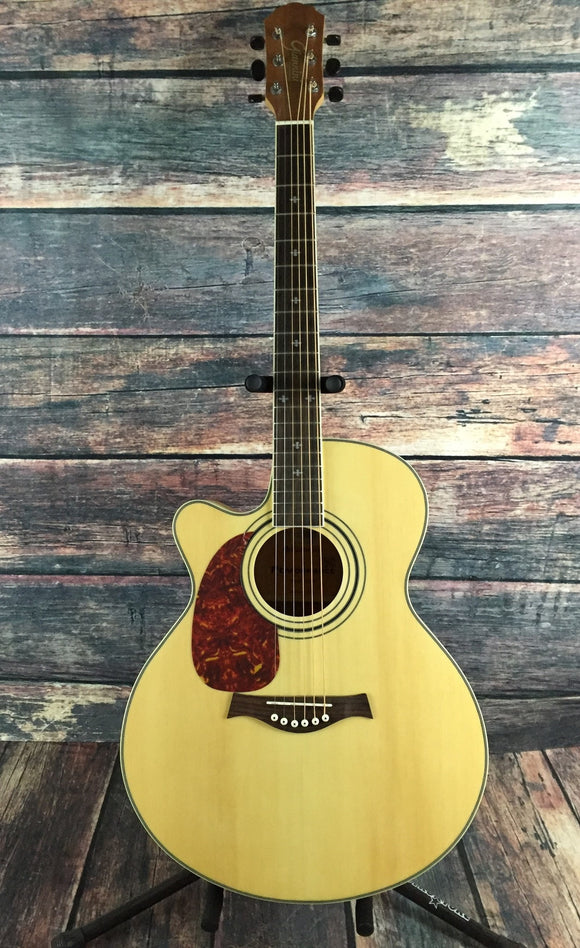 Giannini Acoustic Electric Guitar Giannini Left Handed GF-4 CEQ M Acoustic Electric Guitar