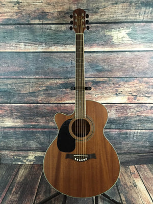 Giannini Acoustic Electric Guitar Giannini Left Handed GS-4 CEQ WS Acoustic Electric Guitar