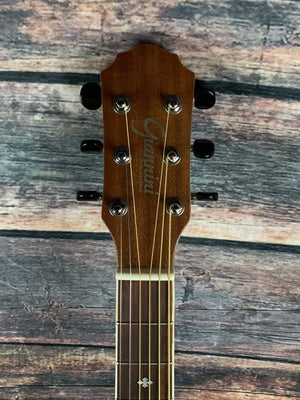 Giannini Acoustic Electric Guitar Used Giannini Left Handed GF-4 CEQ M Acoustic Electric Guitar
