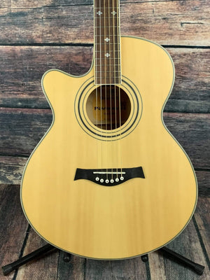Giannini Acoustic Electric Guitar Used Giannini Left Handed GF-4 CEQ M Jumbo Acoustic Electric Guitar
