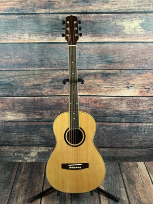 Giannini Acoustic Guitar Giannini Left Handed GPL-S-MH Parlor Acoustic Guitar