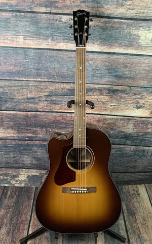 Gibson Acoustic Guitar Used Gibson 2018 Left Handed J-45 Walnut CEX AG Acoustic Electric Guitar with Gibson Case- Walnut Burst