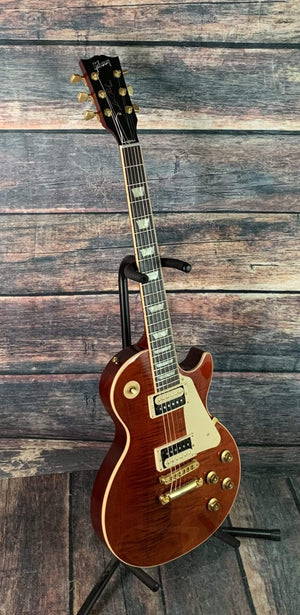 Gibson Electric Guitar Used Gibson 2013 Les Paul Traditional Pro II Electric Guitar with Gibson Case- Merlot Red