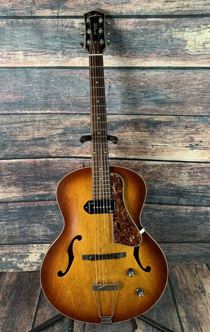 Godin Electric Guitar Used Godin 5th Avenue Kingpin P-90 Hollow Body Electric Guitar with Case -Cognac Burst