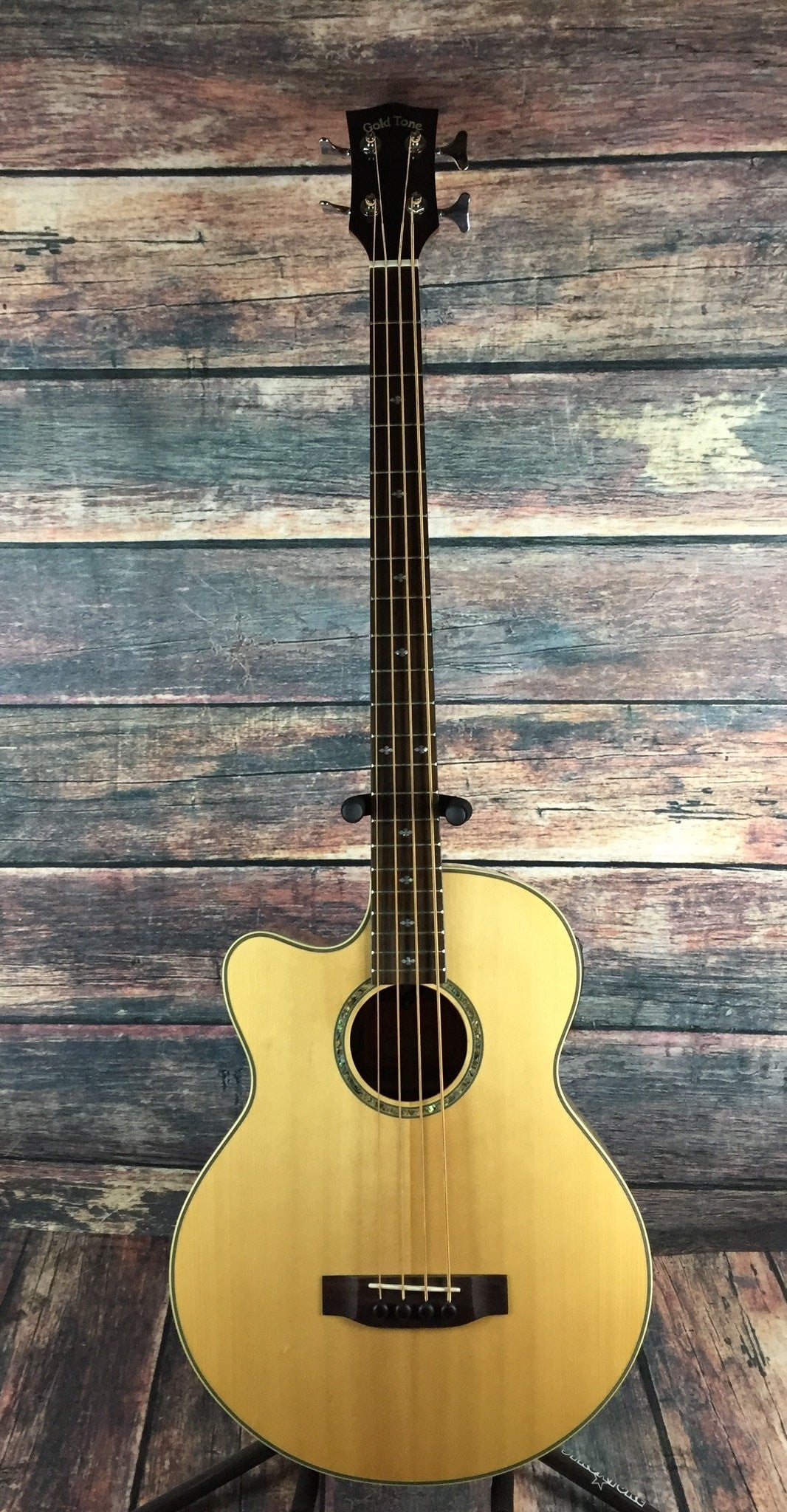 GoldTone Acoustic Bass Gold Tone Left Handed ABG-4 Acoustic Electric Bass