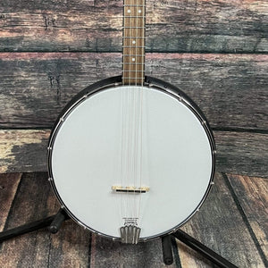 GoldTone Banjo Gold Tone Left Handed AC-4IT Irish Tenor 4 String Open Back Banjo