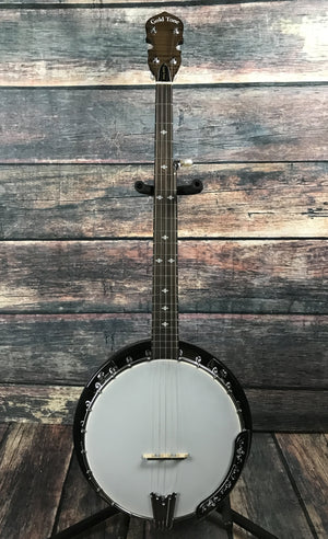 GoldTone Banjo GoldTone Left Handed CC-50R 5 String Resonator Banjo with Bag