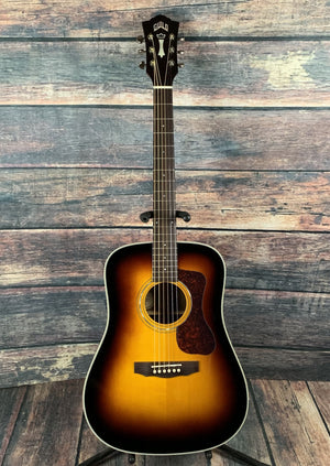 Guild Acoustic Guitar Used Guild Westerly Series D-140 Sunburst Acoustic Guitar with Case