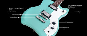 Guild Electric Guitar Guild Jetstar Solid Body Electric Guitar- Sea Foam Green