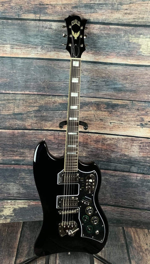 Guild Electric Guitar Used Guild ST-200 T-Bird Electric Guitar with Guild Gig Bag- Black