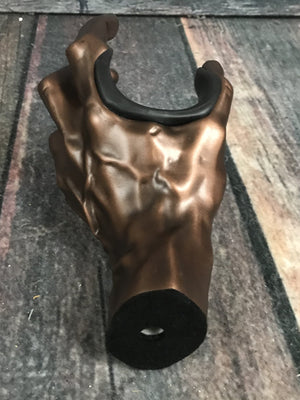 Guitar Grip Stand Guitar Grip LHGH-136 Antique Copper Male Hand Wall Hanger-Left Hand