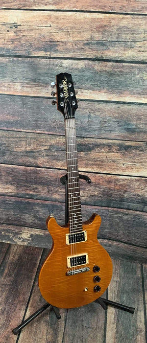 Hamer Electric Guitar Used Hamer USA Studio Flame Top Double Cutaway Electric Guitar with Hard Shell Case
