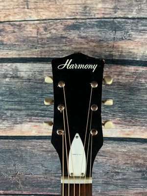 Harmony Acoustic Guitar Used Harmony Vintage H162 Acoustic Guitar with Gig Bag
