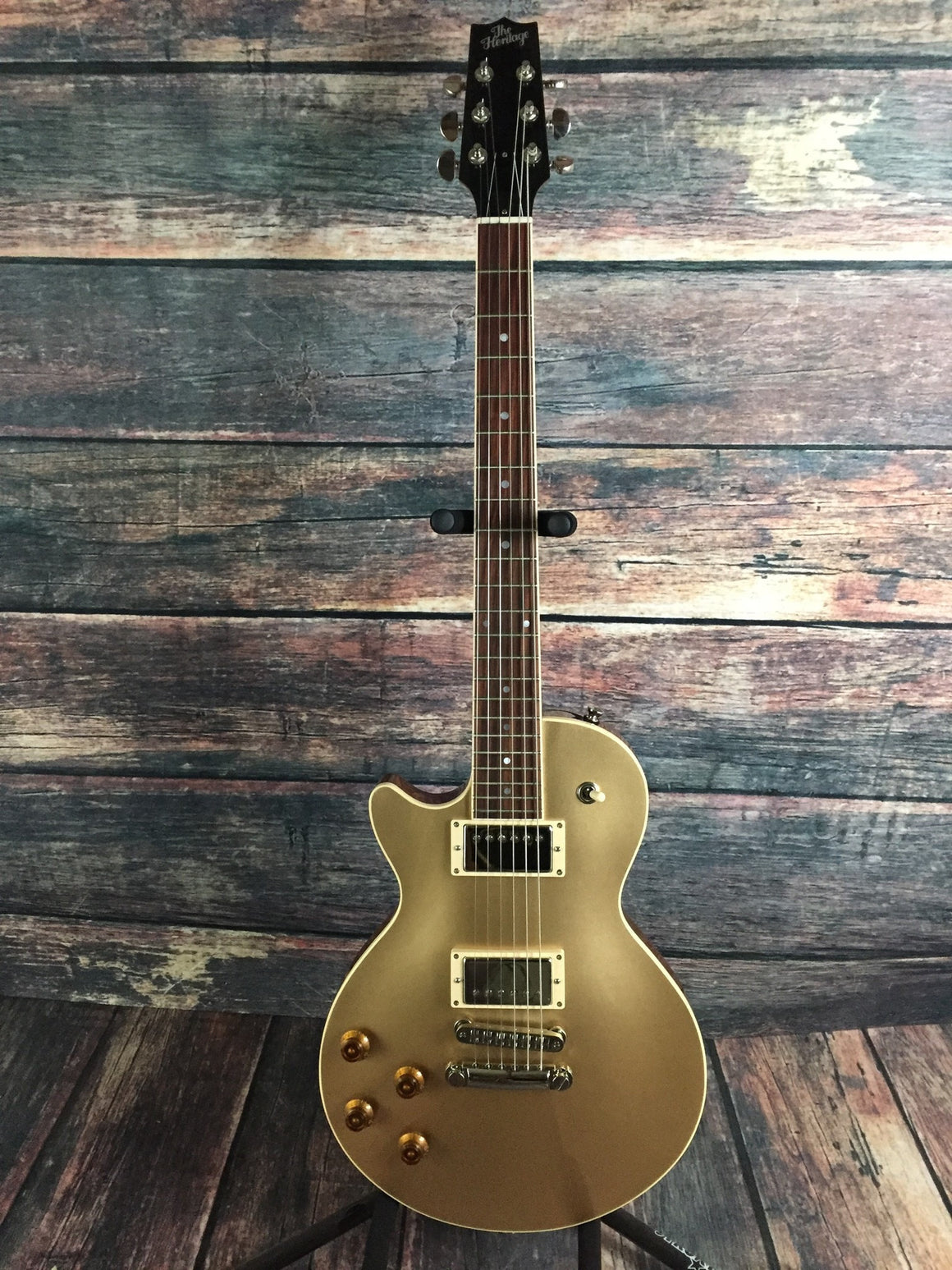 Heritage Electric Guitar Heritage Left Handed H-140 2nd Edition Gold Top Electric Guitar