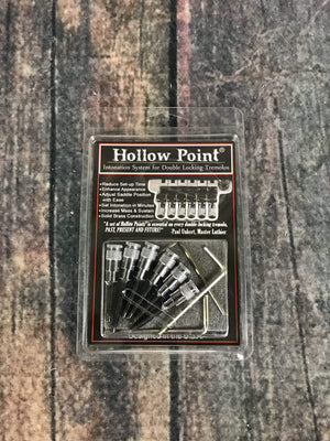 Hollow Point Parts Hollow Point Intonation System for Double Locking Tremolo- Chrome