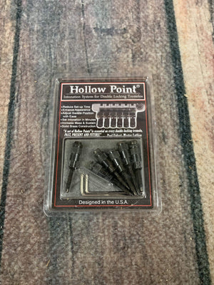 Hollow Point Parts Used Hollow Point Intonation System for Double Locking Tremolo- Black
