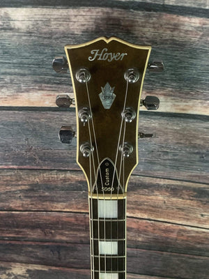 Hoyer Electric Guitar Used Hoyer 70's 5060 Custom Single Cut LP Style Electric Guitar with Gator Case