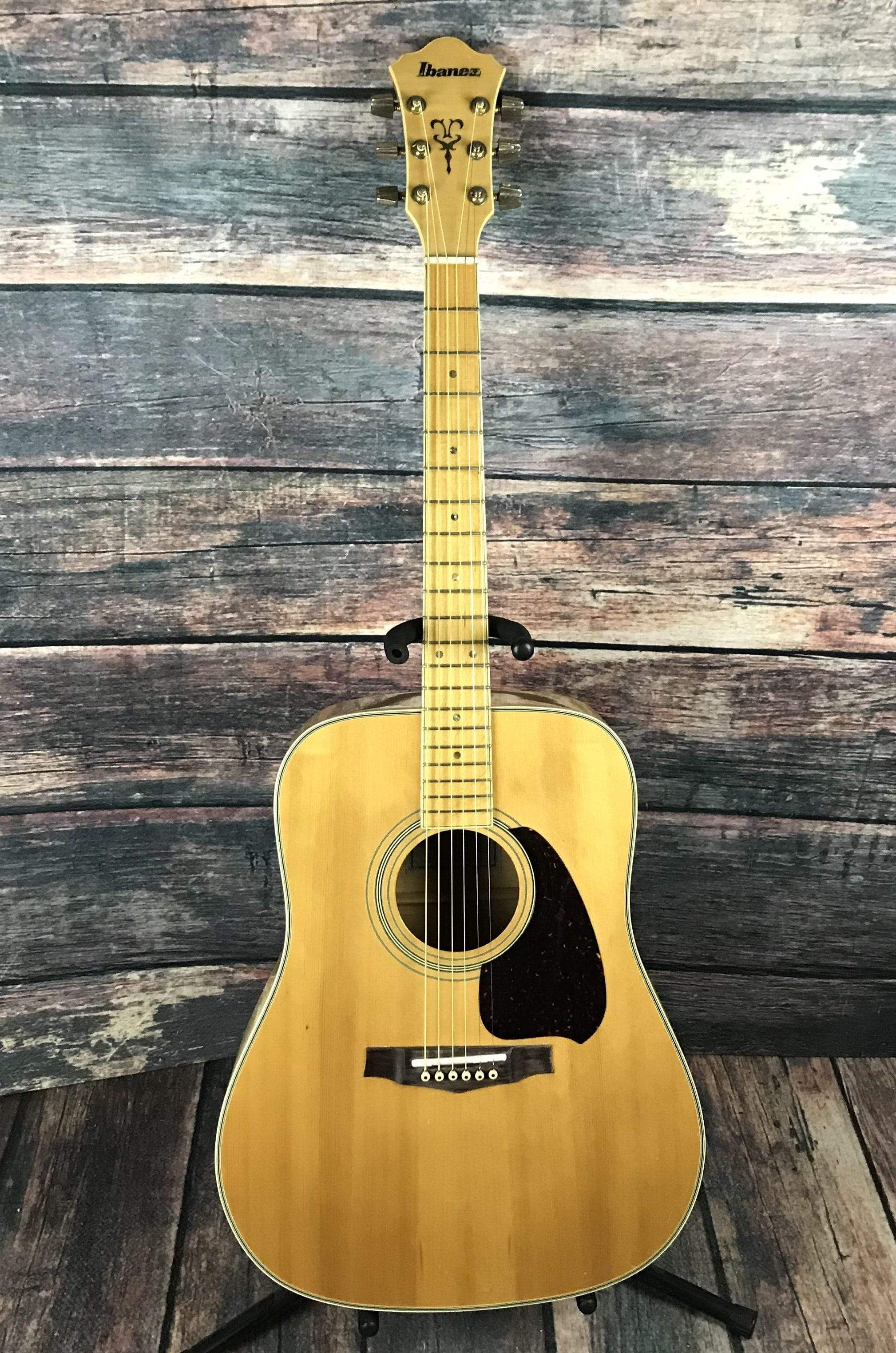 used ibanez 1980 vintage japanese made m 340 acoustic guitar with mapl. Black Bedroom Furniture Sets. Home Design Ideas