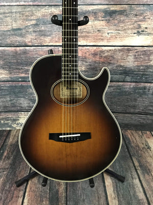 Ibanez Acoustic Guitar Used Ibanez AE405TV Japanese Made Thinline Acoustic Electric Guitar with Case