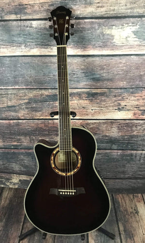 Ibanez Acoustic Guitar Used Ibanez Left Handed AEF18LE Acoustic Electric Guitar with Case