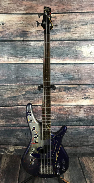 Ibanez Electric Bass Used Ibanez SR300DX 4 String Electric Bass with Ibanez Case and Custom Paint Job