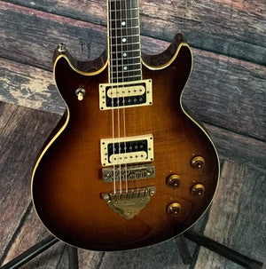 Ibanez Electric Guitar Used Ibanez Artist AR100 Electric Guitar with Case- Flamed Sunburst