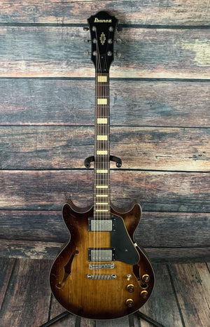 Ibanez Electric Guitar Used Ibanez Ibanez ASV10A-TCL Artcore Vintage Series Semi-Hollow Electric Guitar -Tobacco Burst