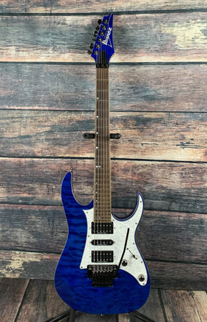 Ibanez Electric Guitar Used Ibanez Premium RG950QM HSH Electric Guitar- Cobalt Blue