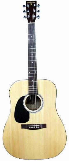 Indiana Acoustic Guitar Indiana Left Handed Scout Acoustic Guitar- Natural