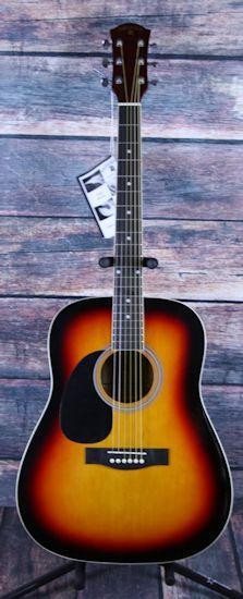 Indiana Acoustic Guitar Indiana Left Handed Scout Acoustic Guitar- Sunburst