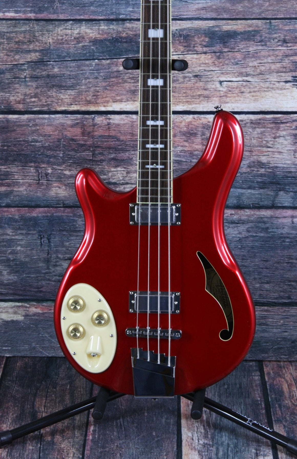 Italia Electric Bass Italia Left Handed Rimini Semi Hollow Electric Bass