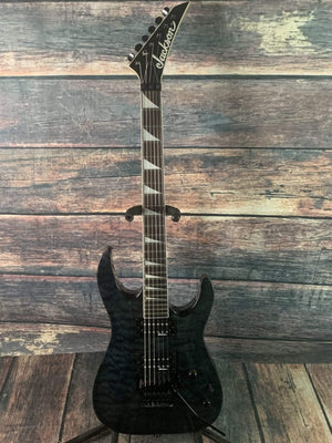 Jackson Electric Guitar Used Jackson JS32Q Dinky Electric Guitar- Quilted Transparent Black