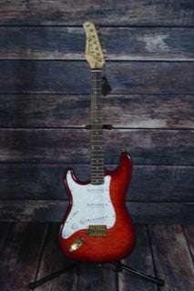 Jay Turser Electric Guitar Jay Turser Left Handed JT-300 Quilt Top Electric Guitar