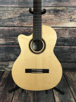 Kremona Classical Guitar Kremona Left Handed Rondo R65CWC Cutaway Classical Acoustic Electric Guitar w/ Truss Rod