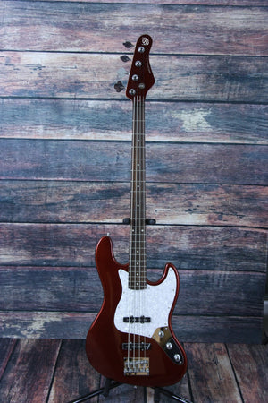 KSD Electric Bass Bass Only Ken Smith Design Right Handed  KSD 704  Red Electric Jazz Bass