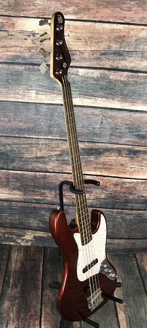 KSD Electric Bass Ken Smith Design Right Handed  KSD 704  Red Electric Jazz Bass